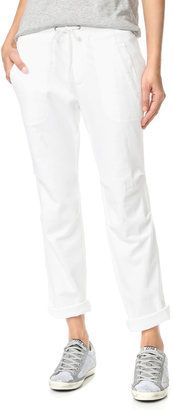 James Perse Heathered Knit Twill Pants $225 thestylecure.com