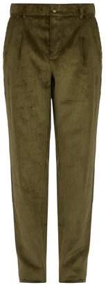 De Bonne Facture - Slim Leg Corduroy Trousers - Mens - Green