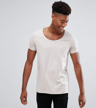 BEIGE Asos Design ASOS TALL T-Shirt With Deep Scoop In