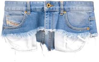 Diesel distressed mini skirt belt