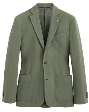 Mango man MANGO MAN Slim-fit patterned cotton blazer