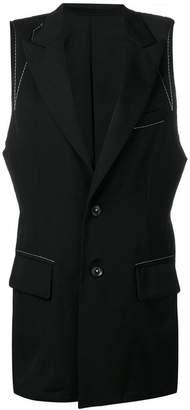 Yohji Yamamoto stitch-detail waistcoat