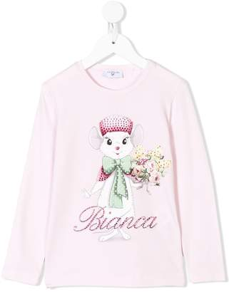 MonnaLisa Disney print long sleeve T-shirt