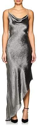 Juan Carlos Obando Women's Silk-Blend Lamé Asymmetric Halter Dress