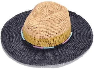 0e59cf765a2 Justine Hats - Multi Colors Straw Fedora Hat