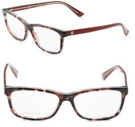 Gucci Havana 51MM Rectangular Optical Glasses
