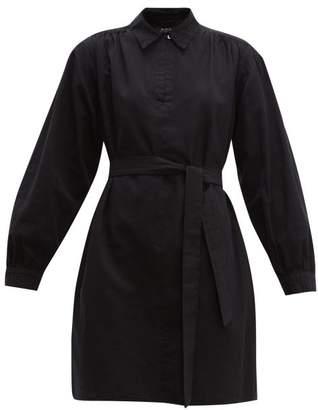 A.P.C. Maria Cotton Canvas Dress - Womens - Black