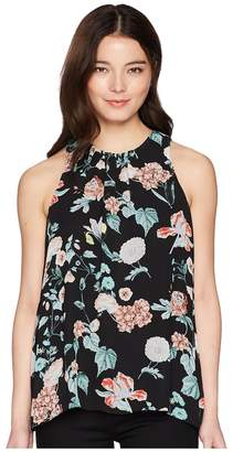 Vince Camuto Specialty Size Petite Sleeveless Floral Gardens Blouse Women's Blouse