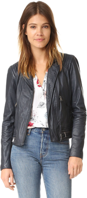 Rebecca Taylor Washed Leather Jacket $950 thestylecure.com