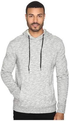Michael Stars Cross Neck Pullover Hoodie Men's Sweatshirt