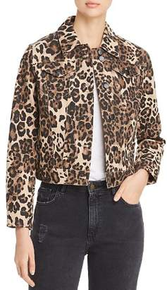 Bagatelle Leopard Print Denim Jacket