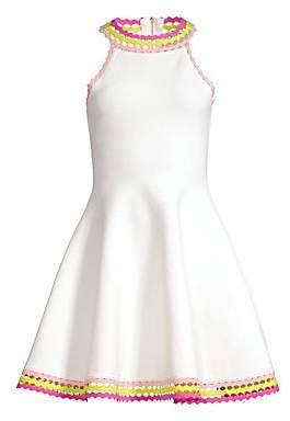 Milly Women's Diamond-Cut Flare Dress