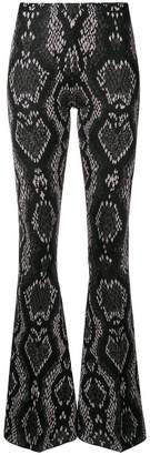 Circus Hotel snake jacquard effect trousers