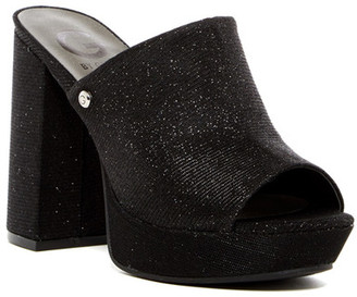 G by GUESS Blayke Open Toe Platform Mule $69 thestylecure.com