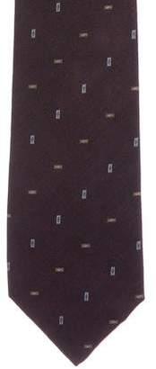 Burberry Geometric Patterned Silk Tie