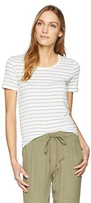 Majestic Filatures Women's Extrafine Short Sleeve Striped Tee