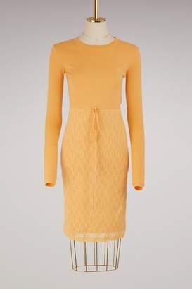 Nina Ricci Laced knit dress