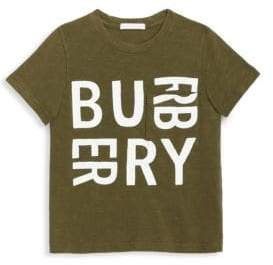 Burberry Little Boy's& Boy's Furgus Logo Cotton Tee
