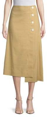 Robert Rodriguez Flared Button Skirt