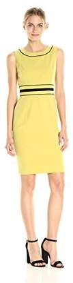 Nine West Women's Stretch Sheath Dress with Waist Detailing