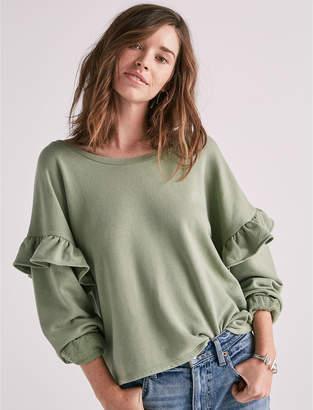 Lucky Brand Ruffle Sweatshirt