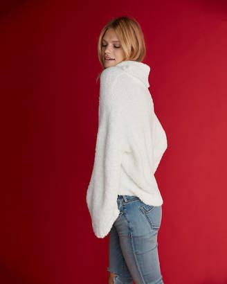Express Petite Mini Feather Cowl Neck Sweater