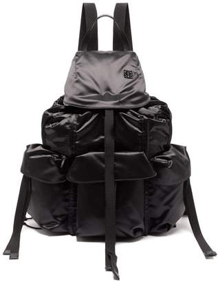Loewe Large Nylon Utility Backpack - Womens - Black