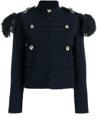 Nina Ricci fringed epaulette jacket