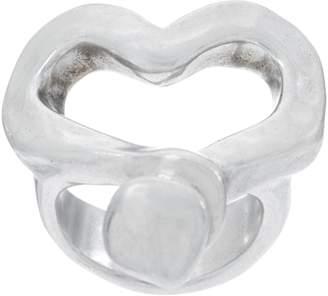 Uno de 50 Unode50 UNOde50 Silvertone Ring -Nailed Heart