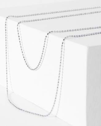 7 For All Mankind Five and Two Camille Necklace in Silver