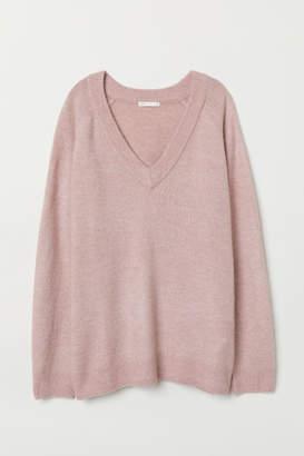 H&M V-neck Sweater - Pink
