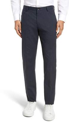 BOSS Gaetano Flat Front Stretch Solid Cotton Trousers