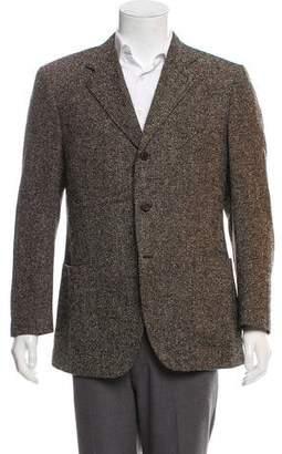 Canali Alpaca Three-Button Tweed Jacket