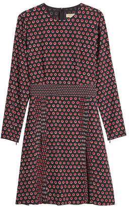 Burberry Domenica Printed Silk Dress
