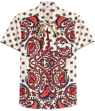RED Valentino Paisley Print Silk Blouse