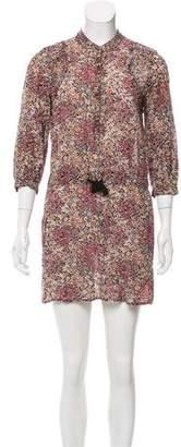 Comptoir des Cotonniers Floral Print Mini Dress