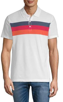 Perry Ellis Men's Chest Stripe Polo Shirt