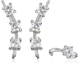 The Ear Pin Cubic Zirconias Earcuff in 3-in-1 Earrings