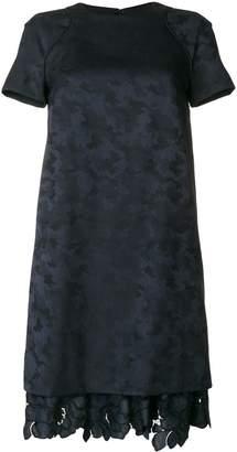 Talbot Runhof scalloped lace dress
