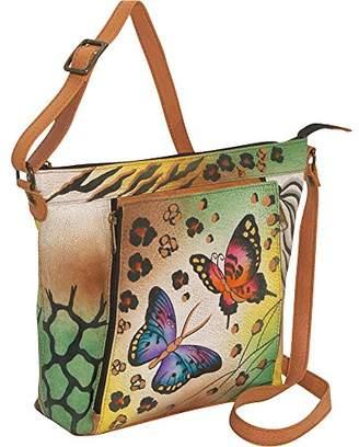 Anuschka Anna by Genuine Leather Travel Organizer | Hand-Painted Original Artwork |