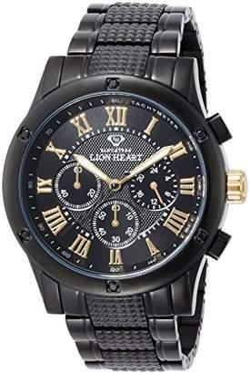 Lion Heart (ライオン ハート) - [ライオンハート]Lion Heart 腕時計 W101 ステンレススチール ブラック文字盤 クロノグラフ クォーツ 日常生活防水 LHW101BBG メンズ 腕時計