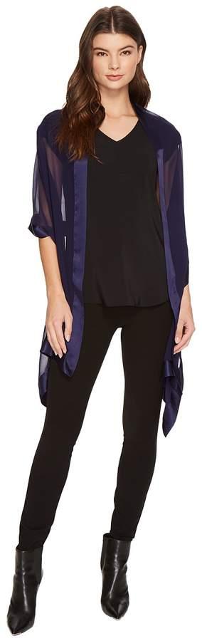 Echo Design - Silk Chiffon w/Satin Border Women's Clothing