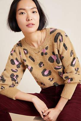 Dolan Left Coast Nina Leopard Eyelash Sweater
