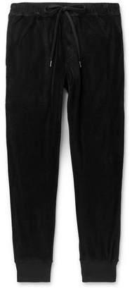 Cotton-Blend Velour Sweatpants