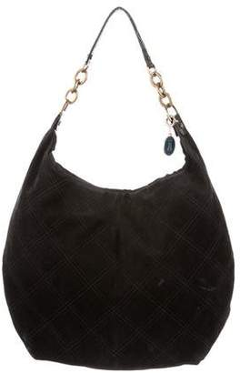 Lanvin Leather-Trimmed Suede Hobo