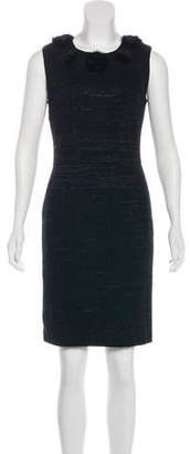 Blumarine Mink-Accented Virgin Wool Dress