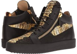 Giuseppe Zanotti May London Metallic Croc Print Mid Top Sneaker Men's Shoes