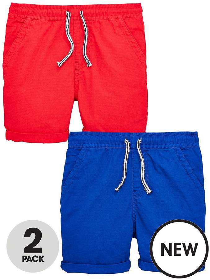 Mini V By Very Boys 2 Pack Pull On Shorts