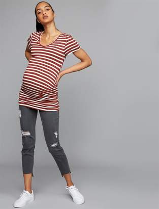Luxe Essentials Denim Secret Fit Belly Addison Skinny Ankle Maternity Jeans
