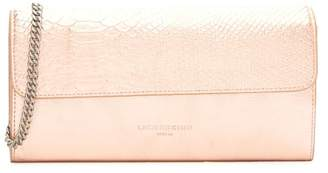 Liebeskind Berlin Maria Metallic Festival Snake Embossed Leather Clutch